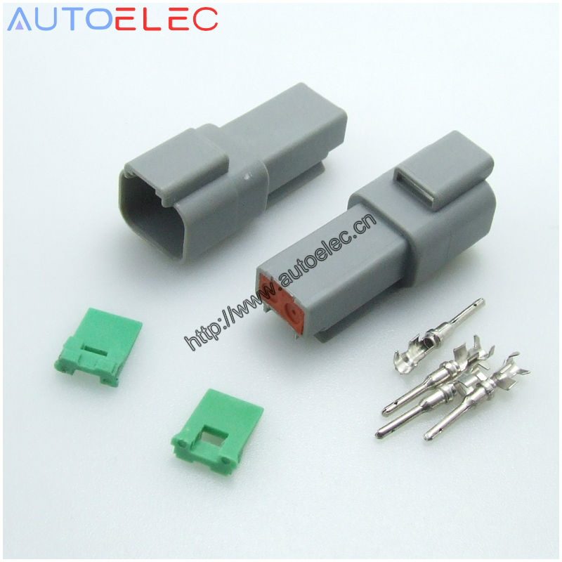 100Sets 2Pin connectors terminals Deutsch DT MALE switch wires wiring 1060 16 0122 U BARREL FEMALE