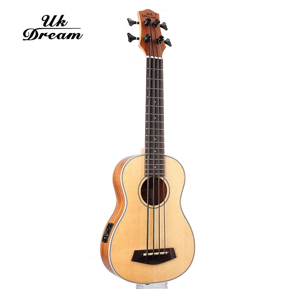 30 inç Guitarra Electrica Mini Guitarra Instrumente Muzikore Profesionale Spruce Sapele U Bass Ukulele Guitarra e Vogël UB-513
