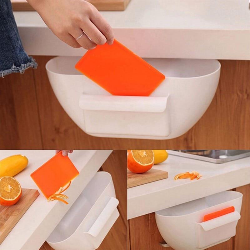 BAISPO 2017 Brand New Sveglio Armadio Da Cucina di Casa Spazzatura Scatola di Immagazzinaggio Organizzatori Spazzatura Holder Portable Hanging Storage Box