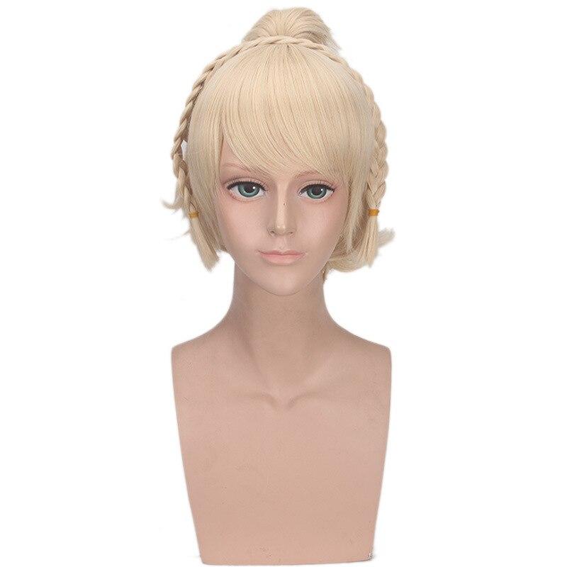 Final Fantasy XV Lunafreya Nox Fleuret Wig Cosplay Costume Princess Luna Women Short Synthetic Hair Halloween Party Wigs