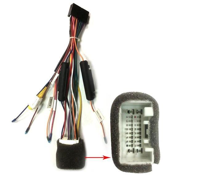 aliexpress com buy joying mitsubishi car stereo radio wire harness rh aliexpress com radio wire harness kit stereo wiring harness kit
