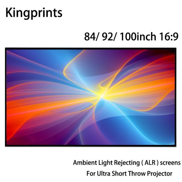 Ortam Işığı Reddetme ALR Ince Çerçeve 84 92 100 inç Projeksiyon Ekranı Için WEMAX Bir Sony Ultra Kısa Mesafeli UST projektörler