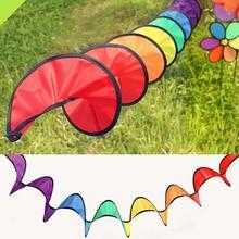 Горячая Радужная Спиральная Ветряная мельница палатка красочный ветер Спиннер садовые украшения для дома