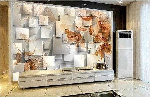 Fantaisie fleur de lys 3D boîte TV toile de fond mural 3d papier ...