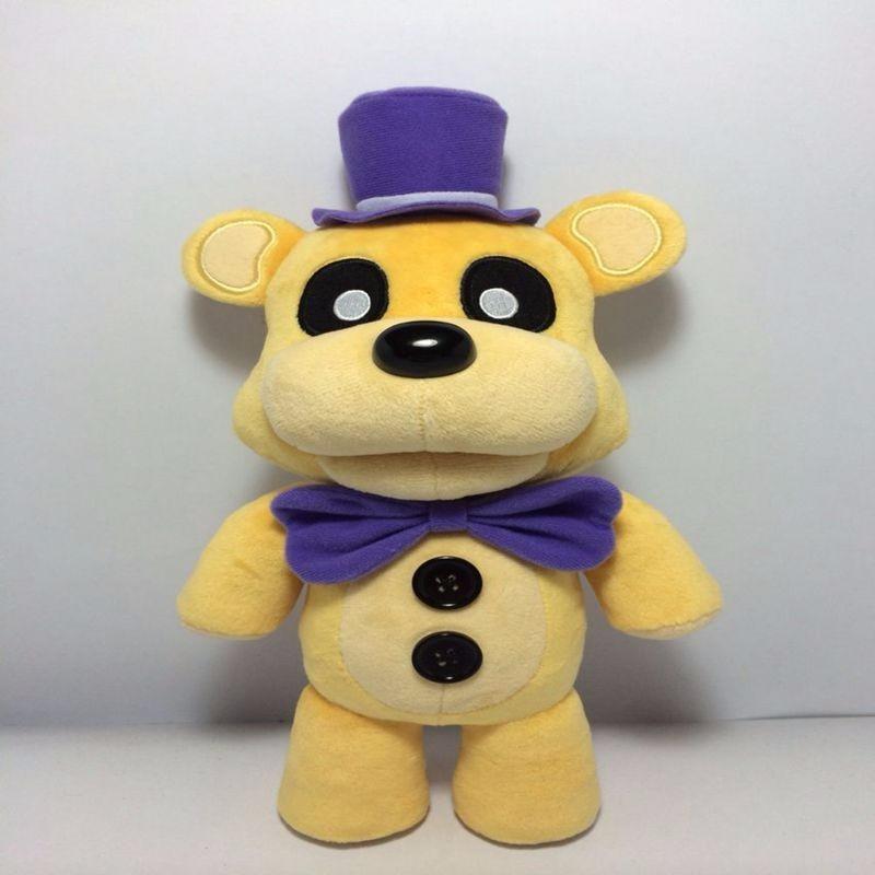 Karstā pārdošana Jauna 100% augstas kvalitātes 30 cm plusi piecas naktis Freddy FNAF Freddy Fazbear lāča rotaļlietu lelle
