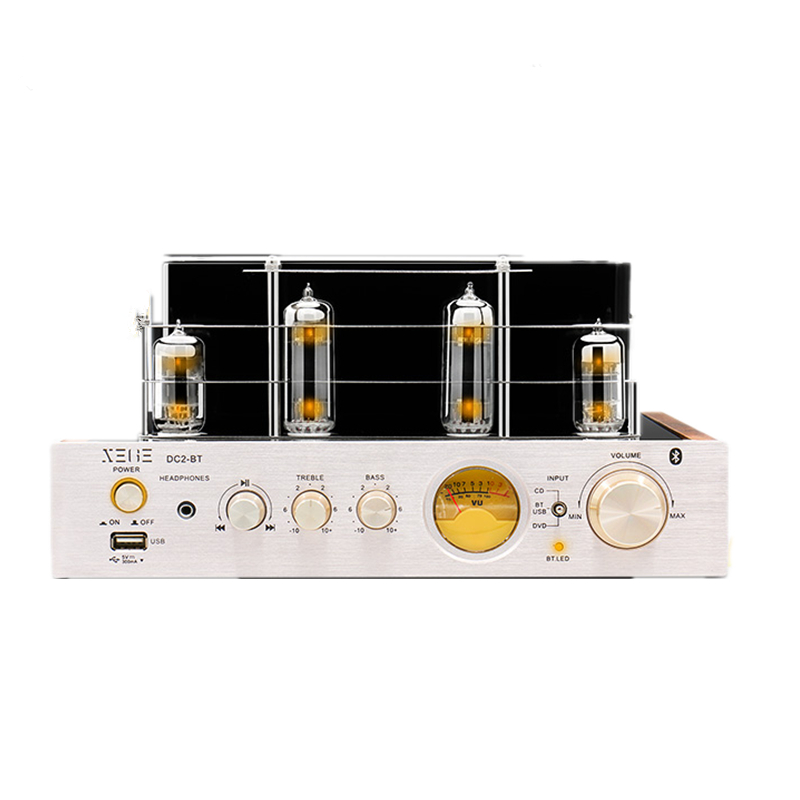 Hifi 2.0 Amplifier USB/Home Audio tube amp 25W*2 220v bluetooth tube amplifier wall mounted golden crystal bathroom accessories crystal bathroom shelves of blue and white porcelain racks