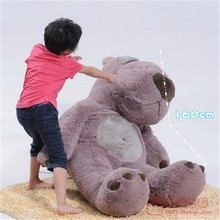 huge Unlucky bear plush toy sitting gray the biggest unlucky bear doll  birthday gift about 180cm