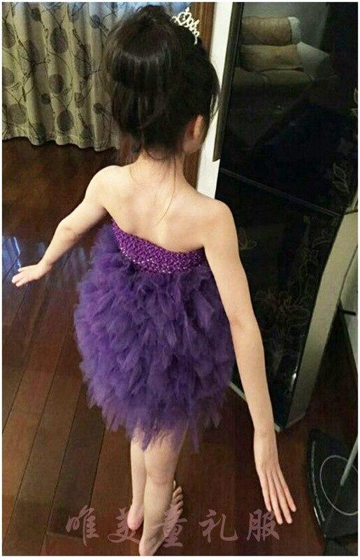 ФОТО Girls dress wedding flowers purple flower princess dressTutu Dress Jumpsuit dress TUTU catwalk show tail Girl Flower Tutu Dress