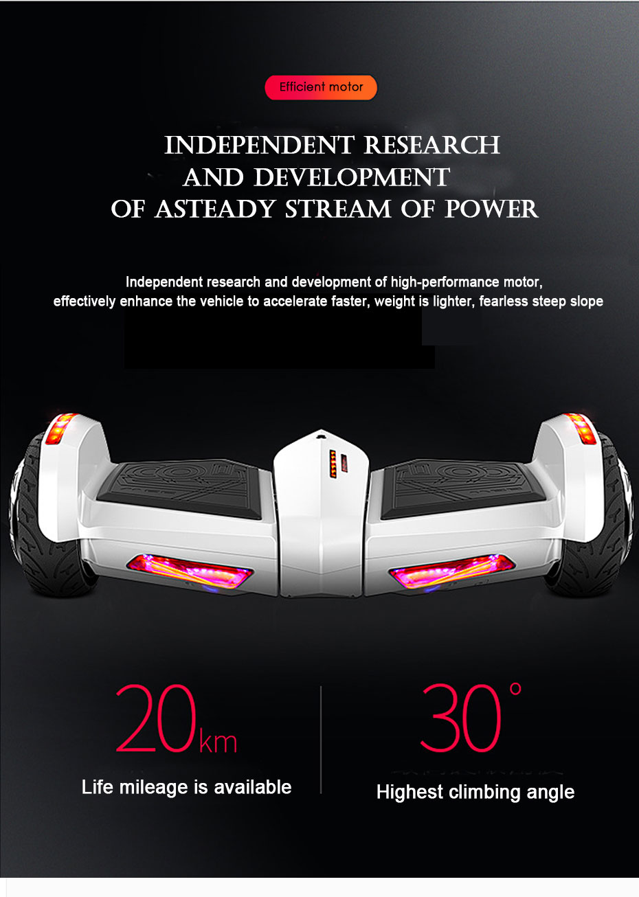 Hoverboard 8inch Wheels Self Balancing Electric Scooter LED Bluetooth Speaker