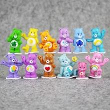 Great 12pcs lot care bears Japanese original anime figure kids toys for boy girl