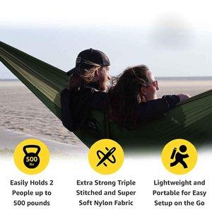 Image 3 - 2 3 persona di Colore Solido Paracadute Hammock di Campeggio Di Sopravvivenza giardino altalena Per Il Tempo Libero borsa da viaggio Portatile Amaca per mobili da giardino