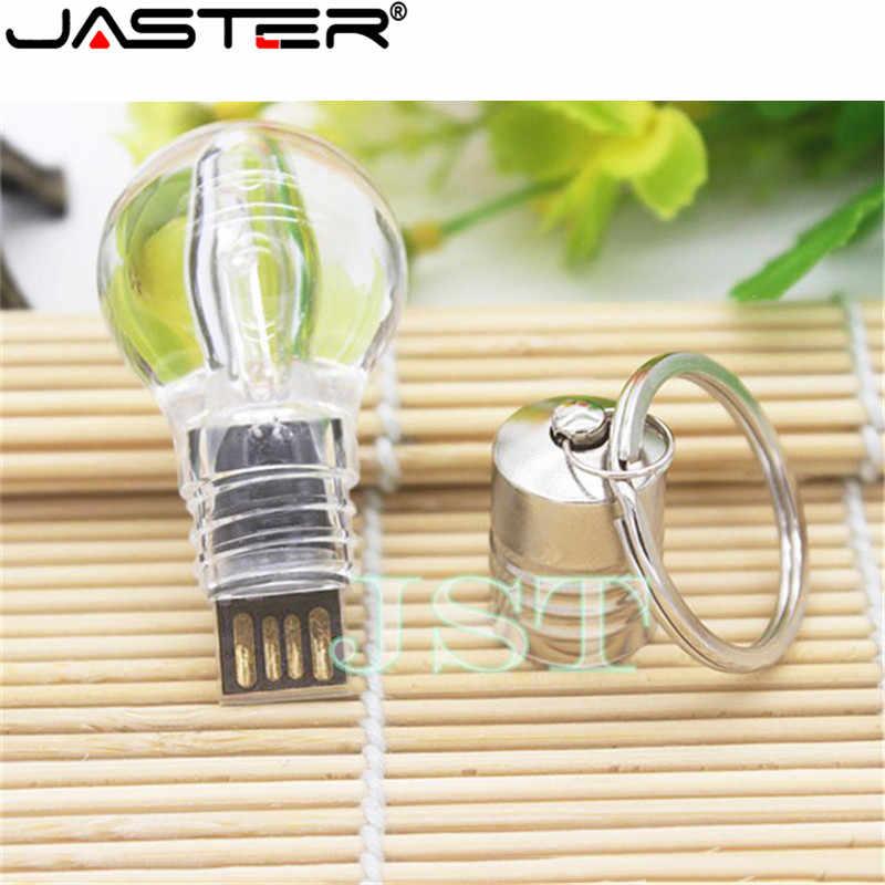 JASTER Moda venda quente criativo LED color light bulb USB flash drive USB 2.0 GB GB 16 8 4 GB 32 GB de memória de Armazenamento Externo