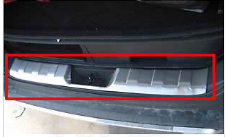 Rear Bumper Sill/Protector Plate steel cover for NISSAN X-Trail 2008-2011 2012 stainless steel rear bumper protector sill plate cover for nissan qashqai dualis 2007 2008 2009 2010 2011 2012 2013
