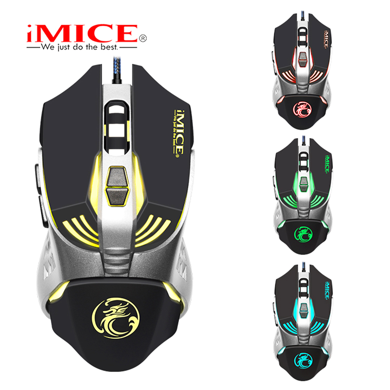 Professional Wired Gaming Mouse 3200DPI Optical Macro Programmable 7 Buttons Mouse Gamer LED Backlight Breath Computer Mice