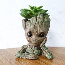 The Avengers Action Figures Guardians Galaxy Flowerpot Baby Flowers pot Bruce Lee Vessel Plant vs Grooting Toy Figures