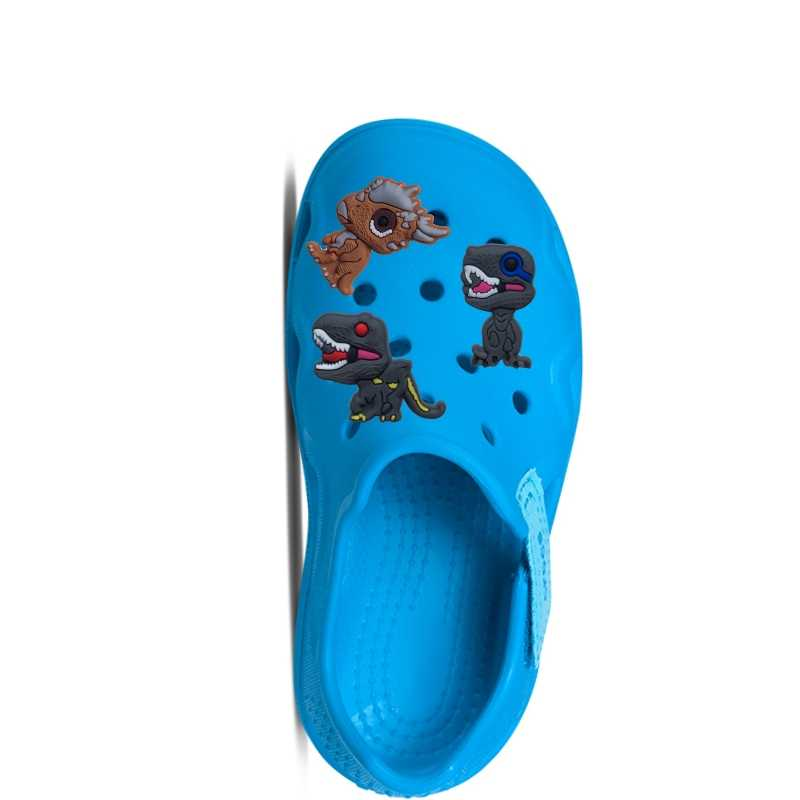 Single Sale 1pc Dinosaurs PVC shoe charms shoe accessories shoe decoration for croc jibz Kid's Party X-mas Gift