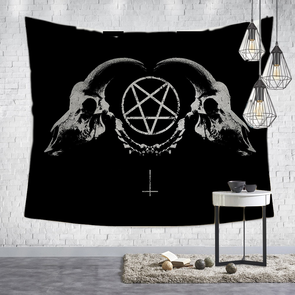 Loartee Witchcraft Magic Print Tapestry Household Wall