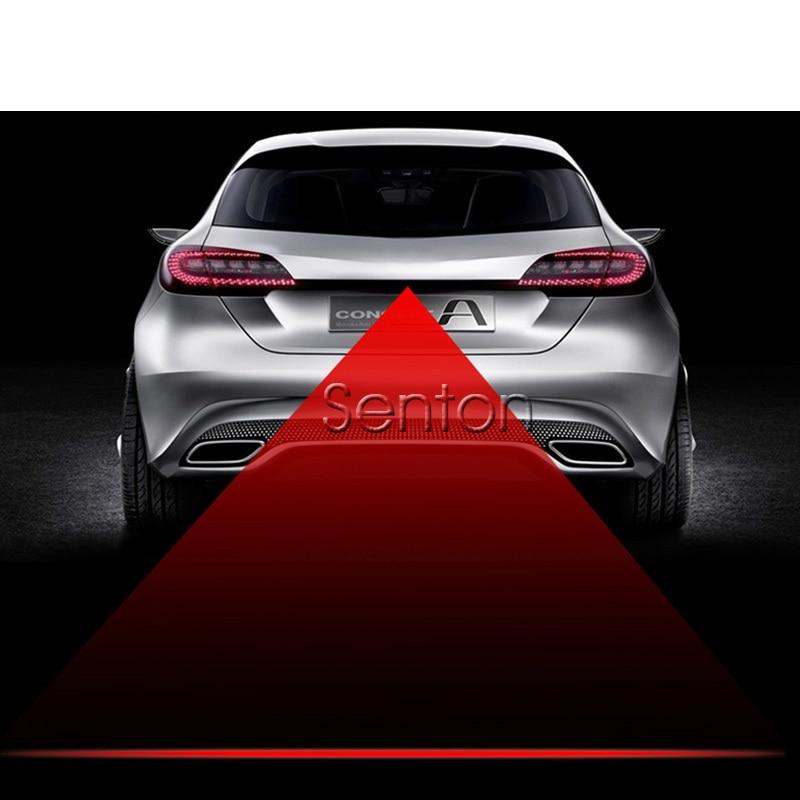 1X Car Red Laser Tail Fog Light For Mercedes W211 W203 W204 W210 W205 W212 W220 AMG For Cadillac CTS SRX ATS yandex w205 amg style carbon fiber rear spoiler for benz w205 c200 c250 c300 c350 4door 2015 2016 2017