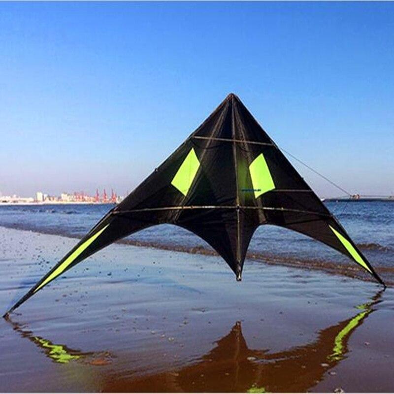 Livraison gratuite haute qualité 2.4m blackjazz double ligne cascadeurs kites peut bricolage couleurs avec poignée ligne weifang kites jouets hcskites