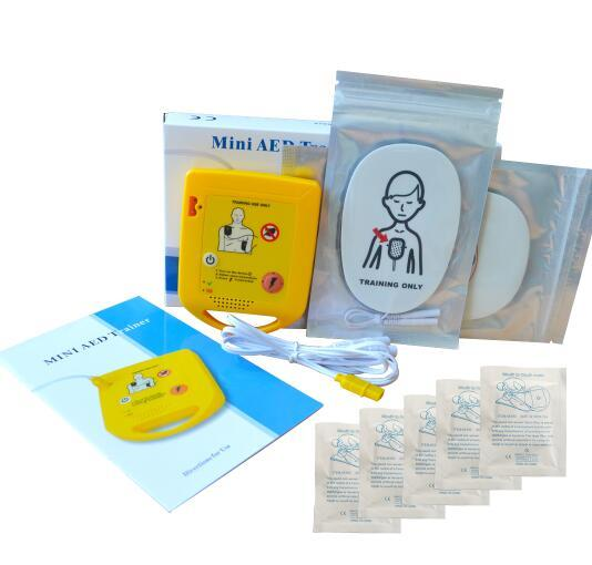 Mini Automatic External AED Trainer Training Machine First Aid Train Study Device With 10 Pair Disposable CPR Mask For Rescuing