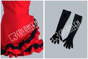 Image 3 - COSPLAYONSEN Vocaloid projet DIVA Meiko Lolita robe Cosplay Costume robe rouge sur mesure