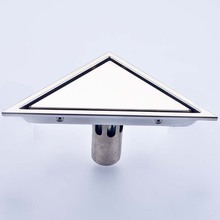 Tile Insert Triangle Floor Drain Waste Grates Bathroom Invisible Shower Drain Stainless steel Shower Grate Drainer