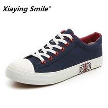 Düz ayakkabı Erkekler Tuval Beyaz/Siyah Düz Sneakers Hafif Nefes Foodwear Yeni moda rahat ayakkabılar Erkek Erkek