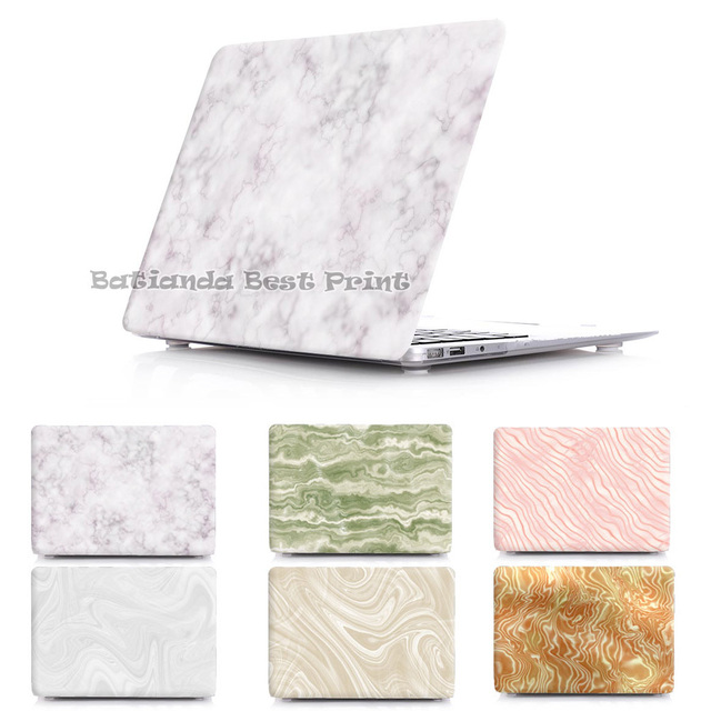 Hot Marble lines Hard Crystal Print Case for MacBook air 11 12 Air 13.3  Pro 13 15 Retina Cover Sleeve