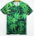 Hot Summer t-shirt de impressão 3D folhas casuais camisas crânio algodão manga curta Homme galáxia solta Unisex encabeça