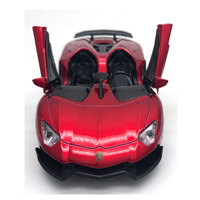 Cuatro Colores Diecast 1:32 Tire Hacia Atrás Del Coche Deportivo de Aleación De Metal Modelo de Simulación de Autos con Luz y Sonido Niños Colección Oyuncak