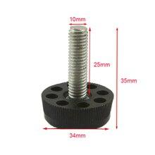 Черный M10x25mm винт 1000 шт. M10 винт, 34 мм База Регулируемый Мебель ног Таблица регулировочные Средства ухода за кожей стоп Pad jf1203