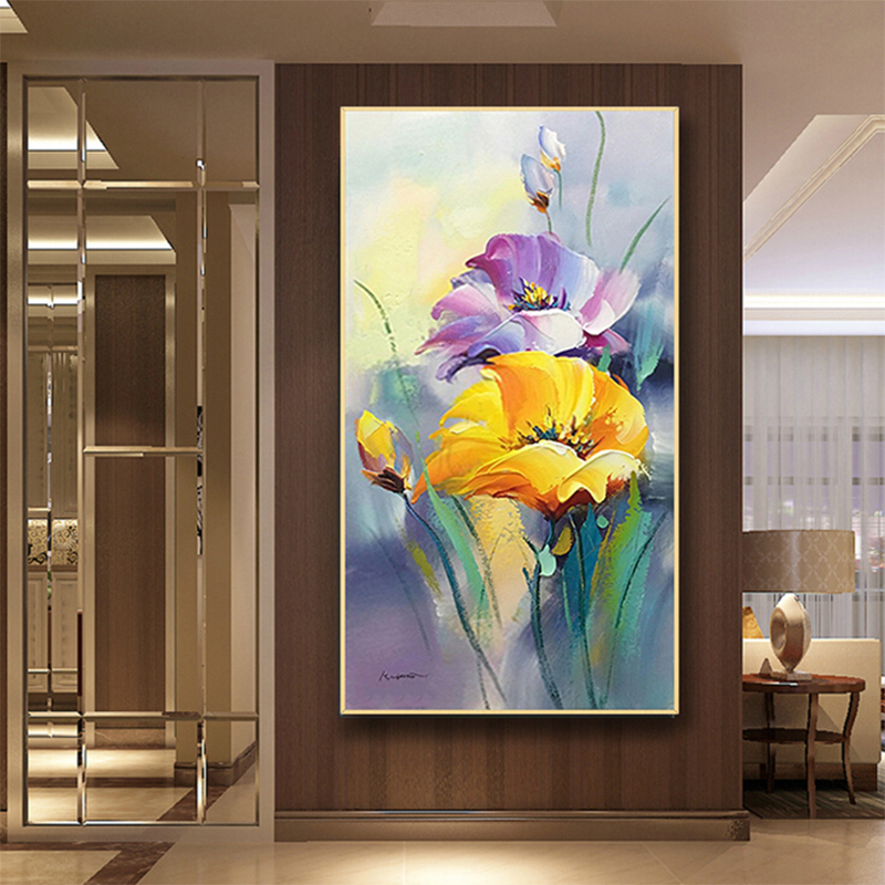 100 Hand painted abstract Flowers Art Oil Painting On Canvas Wall Art Wall Adornment pictures Painting