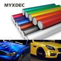 152*30CM Polymeric PVC Matte Chrome Vinyl Car Wraps Film Sticker Color Changing Motorcycle Sticker With Air Bubble Car Styling