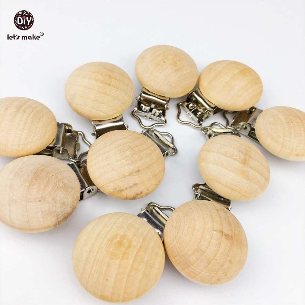 Let s Make 100pcs Wooden Soother Clip Nursing Accessories Baby Teether Chewable Teething Pacifier Holder Dummy