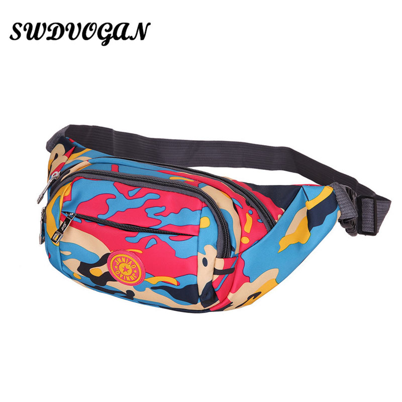 2018 <font><b>Waterproof</b></font> Unisex Fanny Packs Camouflage Polyester Waist Bag Belt Handy Money <font><b>Phone</b></font> Zipper <font><b>Pouch</b></font> Chest Pack Bum Bag Bolsa