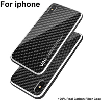 100% Real Carbon Fiber Case For iPhone XS Max Luxury Case Cover iPhoneXS Max Carbon Fibre Case For iPhone 7 8 plus X XS XR shell