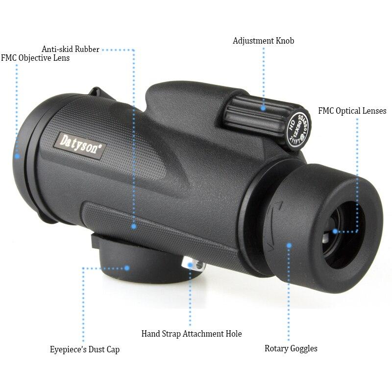 50X focus spotting scope Portable Pocket Size Hiking camping Monocular Telescope