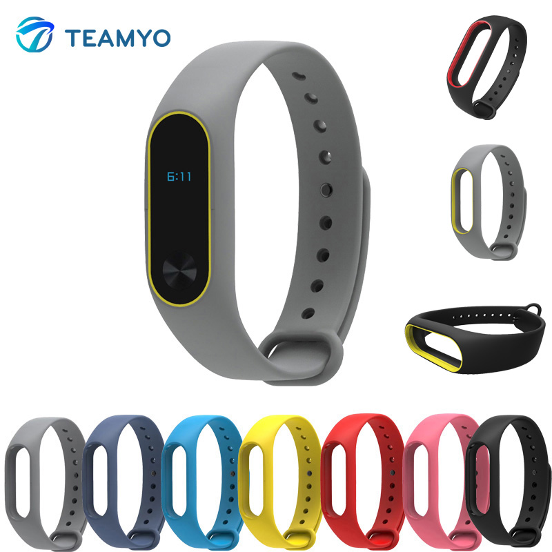 Smart Accessories Replacement Silicon Strap For Xiaomi Mi Band 2 Colorful Wristbands For MiBand 2 Durable Anti Lost