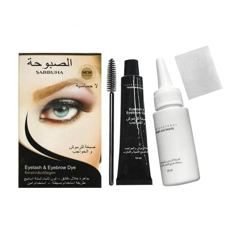 Professional Eyelashes Eyebrow Beard Mustache Hair Dye Paste Tint Kit Permanent Mascara Brow Lashes Comb Brush Set Cosmetic