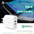 AUKEY  Dual USB Port Travel Wall Charger With Qualcomm Quick Charge 2.0 for Samsung  Galaxy S7 / S7 Edge  HTC One A9