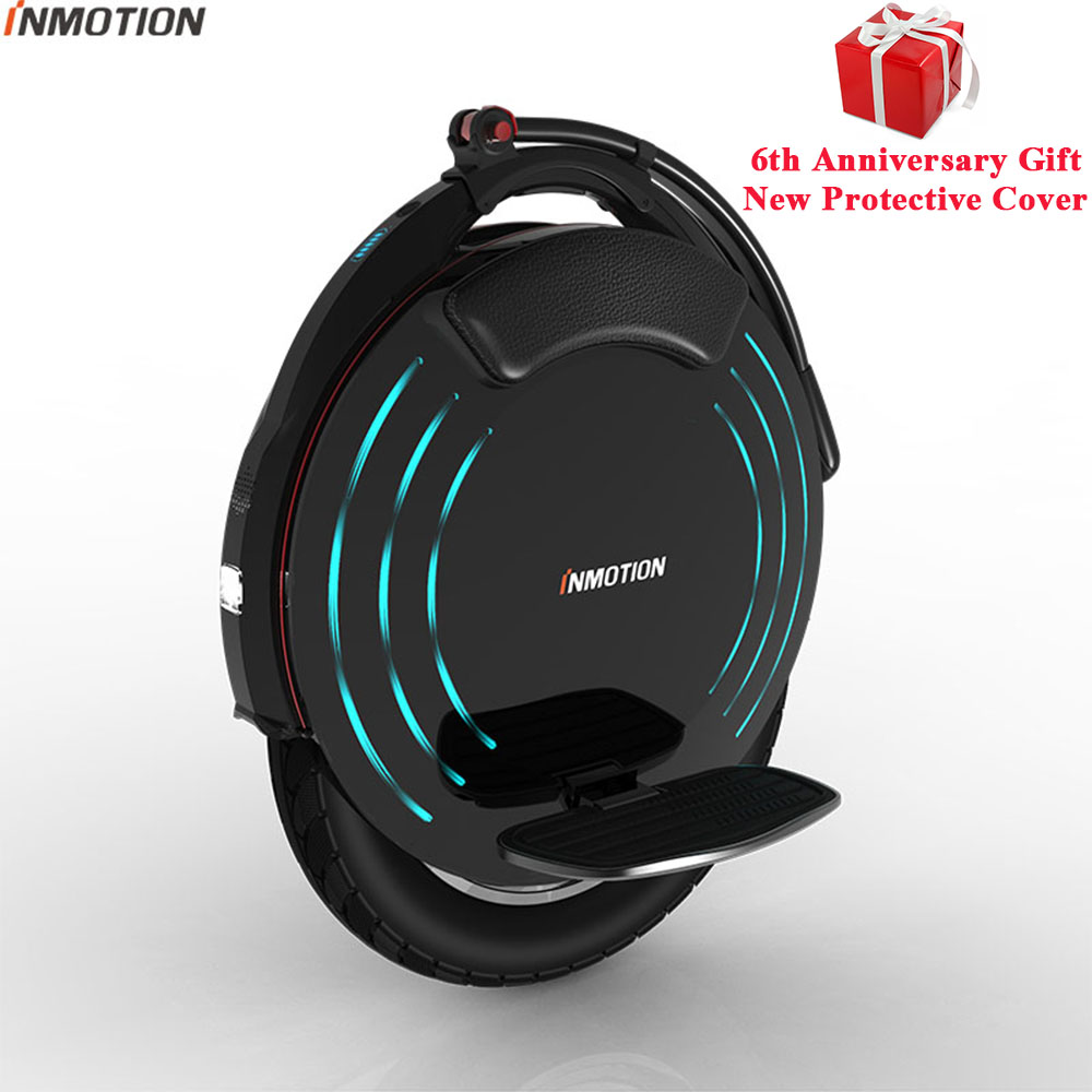 Original INMOTION V10 Self Balancing Wheel Scooter Electric Unicycle 1800W Build in Handle Hoverboard With Decorative