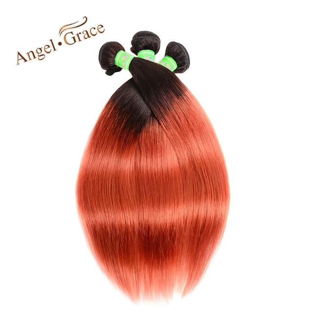 Angel Grace Hair Ombre Brazilian Straight Human Hair Weave 3 Bundles