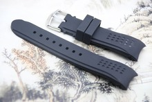 Soft Great Quality Silicone Rubber Diver silicone arc Watch Strap for Casio 24mm