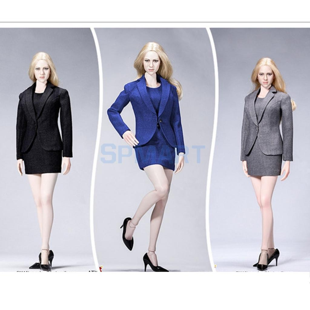 1/6 Scale Office Lady Female Women Occupation Business Career Suit Work Clothes for 12'' Hot Toys/Phicen/Kumik Action Figures цена