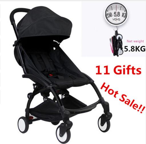 Yoya Baby Stroller 175 Degree Wagon Portable Folding baby Stroller Lightweight Pram Baby Carriage Car Babyzen Yoyo Stroller original baby stroller accessories 175 cushion seat brethable cloth linen material for yoya yoyo babyzen babythrone stroller