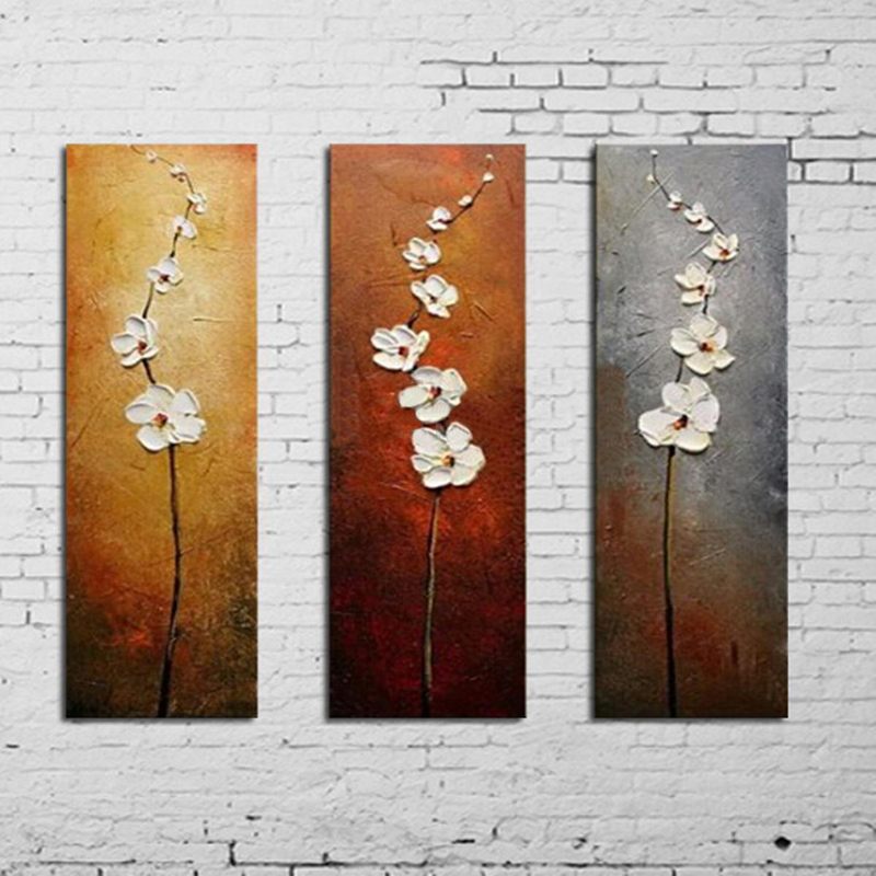 3x/pcs Modern Colorful Flower Canvas Prints Pictures Wall Art Painting Unframed