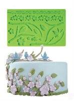 Bakken fondant cake decorating bloem plum Siliconen cakevormen festival cake ontwerp Kauwgom Plakken kant cakevormen gratis verzending