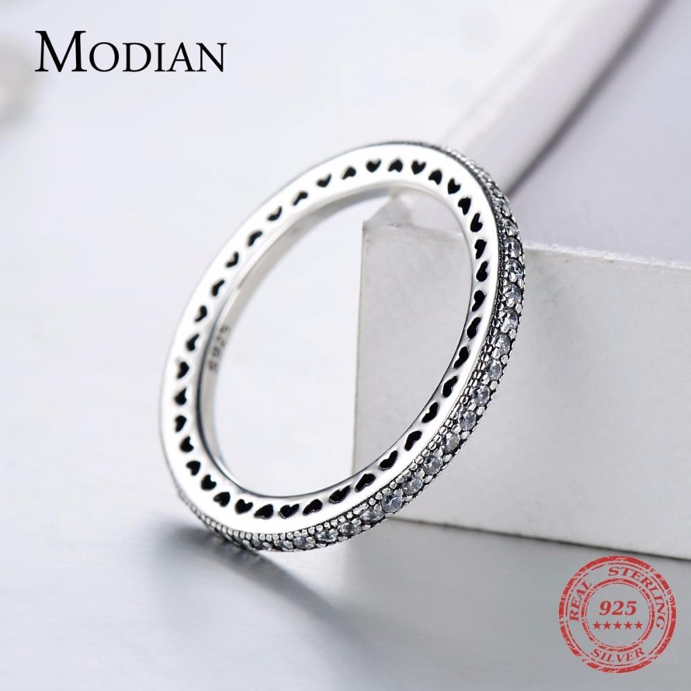 טבעת ללבות אותנטית מכסף אמיתי 2