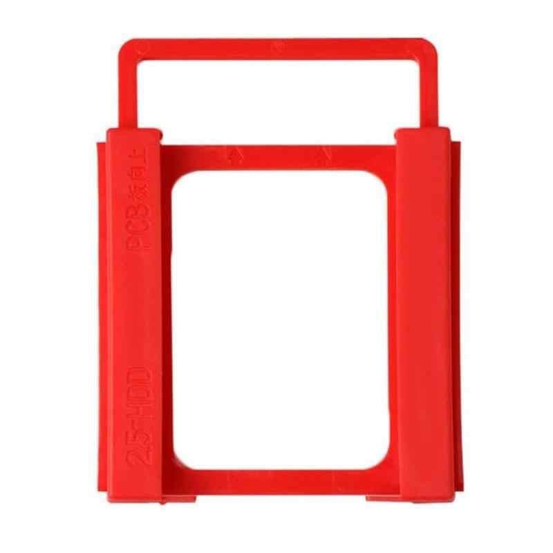 2.5 بوصة إلى 3.5 بوصة SSD HDD الصلب المحمول محرك أقراص تصاعد البلاستيك محول القوس حوض الضميمة حامل للكمبيوتر سطح المكتب