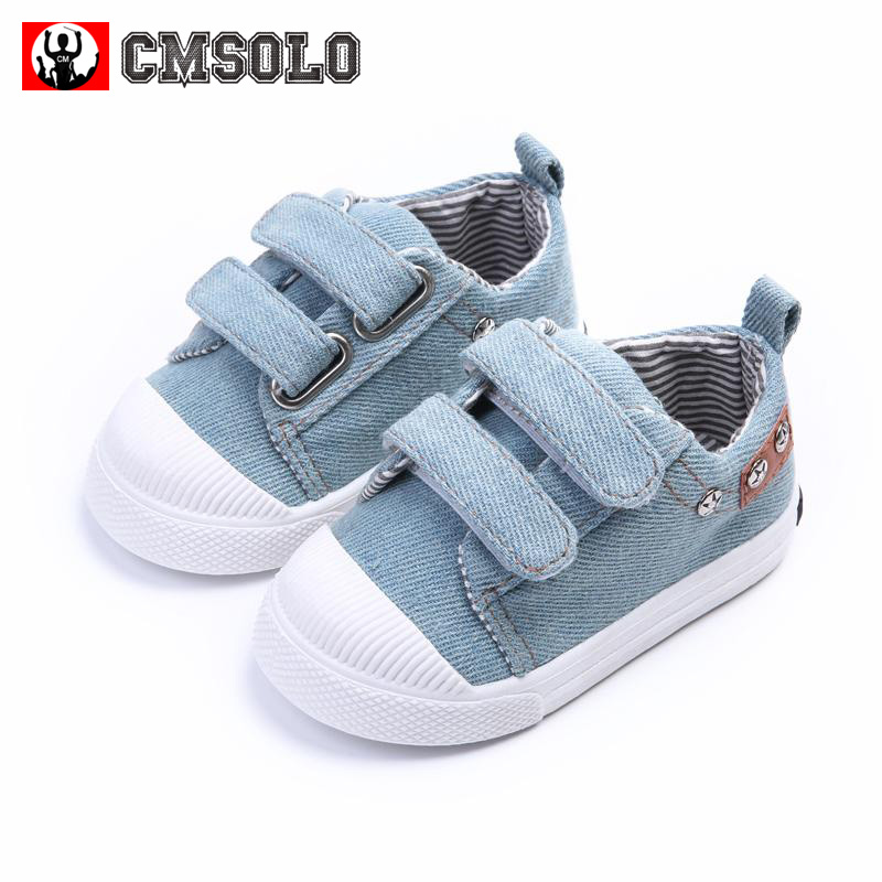 CMSOLO Kids Sneakers Non-slip Shoes For Girls Boys Casual Fashion Canvas Children Denim Running Sport Baby Enfants Footwear 2017
